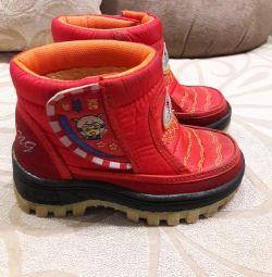 Botlar 16 cm ısındı.