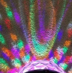 Диско шар. Светодиодная полусфера. RGB Цветомузыка