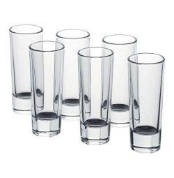 Pile, clear glass / 6 pcs