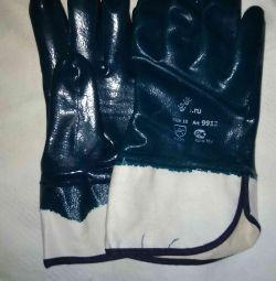 Перчатки нитриловые с тяжёлым покрытием