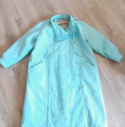 Palton verde deschis