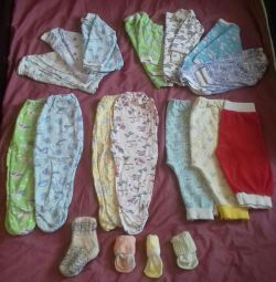 A package of clothes for the baby