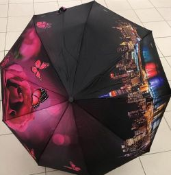 Women's umbrella with a bright print