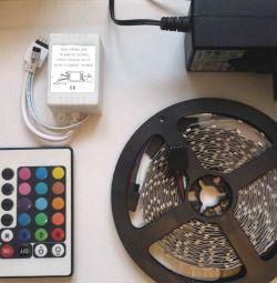 Bandă LED RGB cu telecomandă