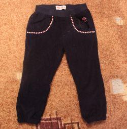 Trousers, thin corduroy.