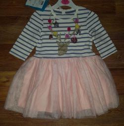 Платье новое р.86-92