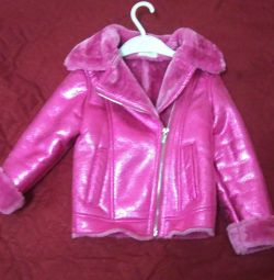 Sheepskin coat for girls Acoola