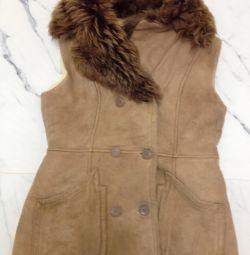 Ανοιχτό παλτό από δέρμα προβάτου