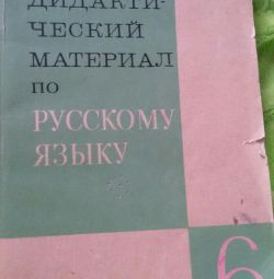 Didactic material on the Russian language 6