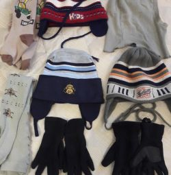 Caps, gloves, tights and socks for 4 years