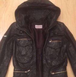 Female leather jacket.