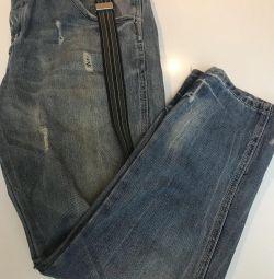 Jeans cu jartiere