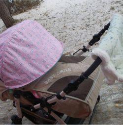 Extra cap on stroller