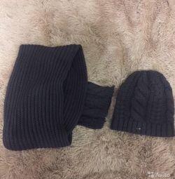 Hat și set eșarfă