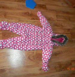 Salopete de iarna pentru copii de 9-12 luni