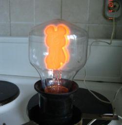 Olympic bear. Decorative bulbs. USSR