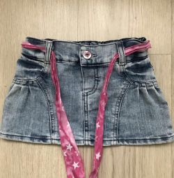 Denim skirt 92 size (from 1 to 2.6 years)