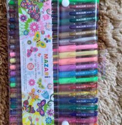 Новые ручки разноцветные
