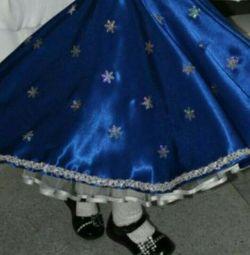 Costum de fată de zăpadă 3-8 ani