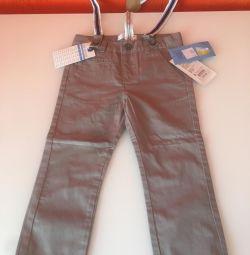 Παντελόνια με ζαρτιέρες νέο gloria τζιν, μέγεθος 92