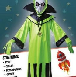 Çocuklar için karnaval kostüm Alien Yeni