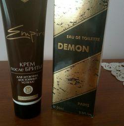 Perfume + shaving cream as a gift