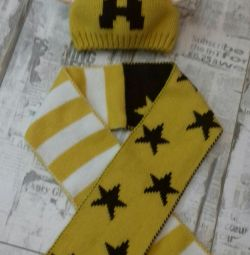 Hat, scarf set
