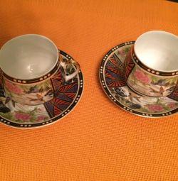 Ένα ζευγάρι φλιτζάνια καφέ