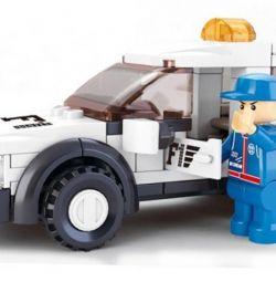 Children's designer pickup police (84 elements)