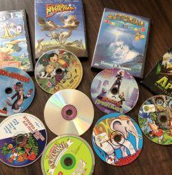 Диски детские сказки, фильмы, мультфильмы
