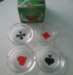 Набор пепельниц Poker Set - 4 шт