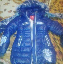 Μπουφάν - ένα παλτό για το κορίτσι, το χειμώνα.