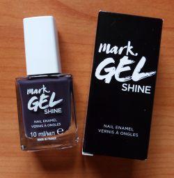 Лак для ногтей GEL shine 10мл Cast a Shadow(серый)