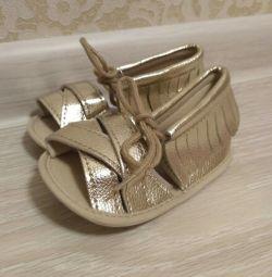 Sandalet 20 boyutu ev yapımı kız
