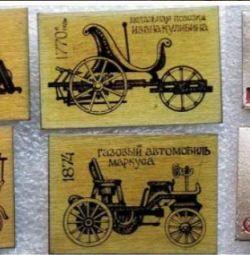 Insigne URSS Retro Cars 2 seturi