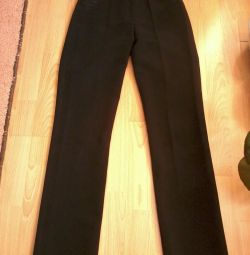 женские брюки, из плотной ткани