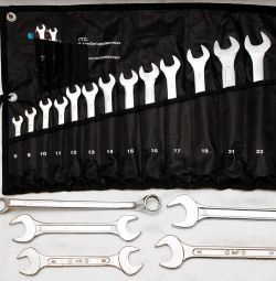 Combination wrenches 22 positions