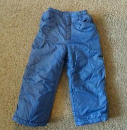 Pantaloni toamna-iarna pe fleece pentru 3-4g