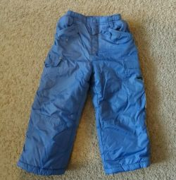 Pants fall-winter on fleece for 3-4g