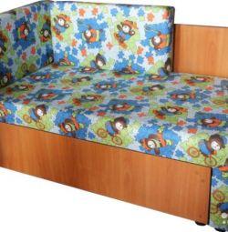 New children's sofa Canape small pazlle denim