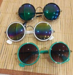 Trendy Round Multicolored Sun Glasses