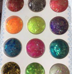 Tırnak tasarım glitter