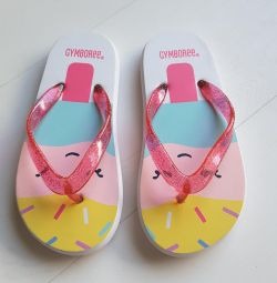Slippers Gymboree, insole 17.5 cm. New