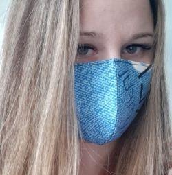 Reusable medical mask blue
