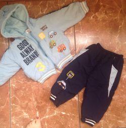 Αθλητικό κοστούμι για το μωρό 1 - 1,5 ετών