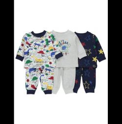 New pajamas from England George 3-6,6-9,9-12m
