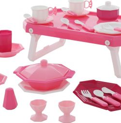 Set of children's dishes