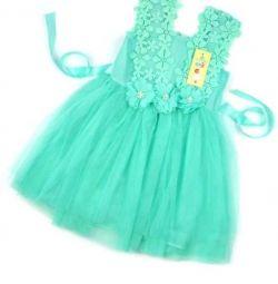 Ментоловое новое платье
