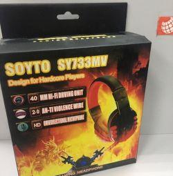 Mikrofonlu kulaklık SY733MV