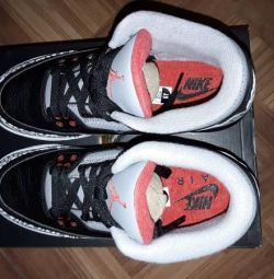 Nike Air Jordan 3 Black Cement SZ 6 with receipt